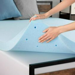 Memory Foam Mattress Pad Topper Queen Full King Twin Cooling