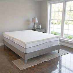 Memory Foam Mattress Topper - 2 Inches of 100% Real Visco El