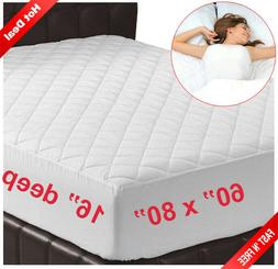Memory Foam Mattress Topper Cover Queen Size Bed Pad Protect