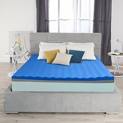 Ayer Comfort 3 Inch Memory Foam Mattress Topper Double Sided