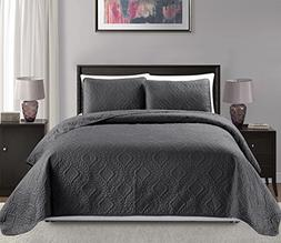 Mk Collection Diamond Bedspread Bed-cover Embossed solid Dar