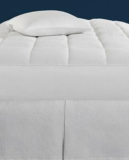 SFERRA MONMOUTH WHITE GOOSE DOWN MATTRESS PAD WITH 600+FILL