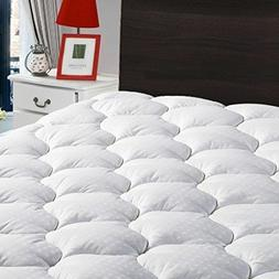"Overfilled Fitted Mattress Pad Cover8-21""Deep Pocket-Cooli"