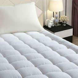 Pillow Top Mattress Cover Twin Size Bed Topper Pad Soft Hypo