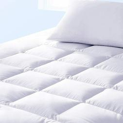 Pillow Top Mattress Pad Queen Size Bed Topper Cover Soft Hyp