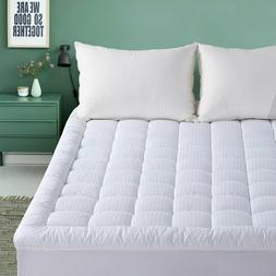 Pillowtop Mattress Pad 300TC Cotton Cover 21'' Deep Fitted Q