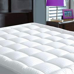 JURLYNE Pillowtop Mattress Pad Cover Full Size - Hypoallerge