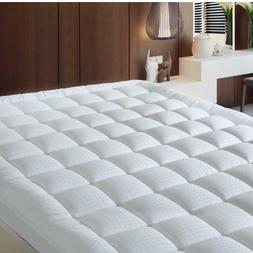 Pillowtop Queen Mattress Pad Cover 300TC 100% Cotton Down Al