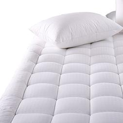 MEROUS Cal King Size Cotton Mattress Pad - Pillow Top Hypoal