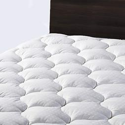 "LEISURE TOWN Queen Overfilled Mattress Pad Cover 8-21""Deep"