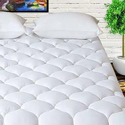 """LEISURE TOWN Queen Overfilled Mattress Pad Cover 8-21""""Deep"""