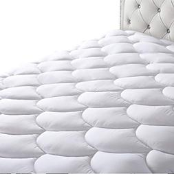 HEPERON Queen Quilted Fitted Mattress Pad Cover Cooling,Mult