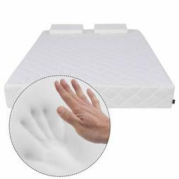 "Queen Size 10"" Memory Foam Mattress Pad Bed Topper With 2 FR"