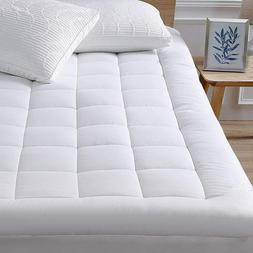 Queen Size Mattress Pad Cover Memory Foam Topper Luxury Thic