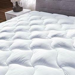 Queen Size Mattress Pad Cover Snow Down Alternative Pillow T