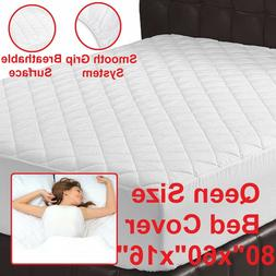 QUEEN SIZE MATTRESS TOPPER Luxury Quilted Fitted Hypoallerge
