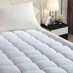Queen Size Pillow Top Mattress Pad Cover Protector Cotton Sn