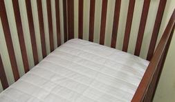 Quilted Crib Mattress Pad Protects your Crib or Toddler matt