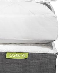 eLuxurySupply Quilted Deluxe Blended Feather and Down Bed/Ma