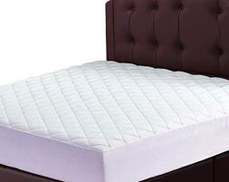 Lux Decor Quilted Fitted Mattress Pad - Stretch-to-Fit Mattr