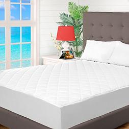 Quilted Fitted Mattress Pad - Cooling Mattress Topper - Hypo