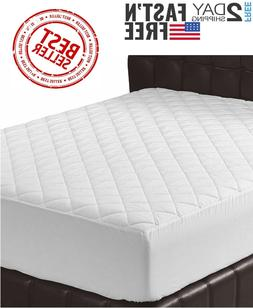 Utopia Bedding Quilted Fitted Mattress Pad Topper Cover Stre