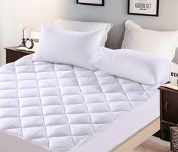 Quilted Plush Mattress Pad Hypoallergenic Mattress Topper 18