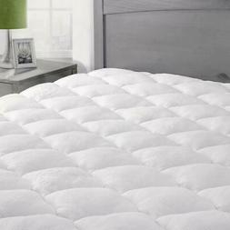 ExceptionalSheets Rayon Bamboo Mattress Pad w/ Fitted Skirt/