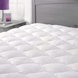 Rayon From Bamboo Mattress Pad with Fitted Skirt - Extra Plu