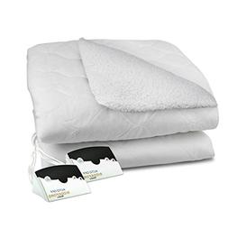 Reversible Sherpa Quilted Electric Heated Mattress Pad with