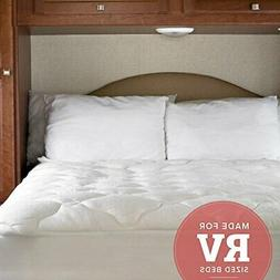 eLuxurySupply RV Mattress Pad - Extra Plush Bamboo Topper wi