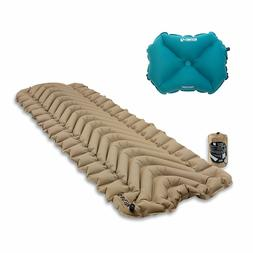 Klymit Static V Recon Inflatable Sleeping Pad, Sand + Inflat