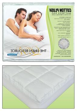 The Linen Resource Cotton Plush Deluxe Waterbed Mattress Pad