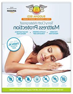 TWIN XL Mattress Protector. 100% Waterproof- Blocks Sweat, S