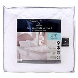 Great Bay Home Ultra-Soft Cotton Quilted Mattress Pad. Comfo