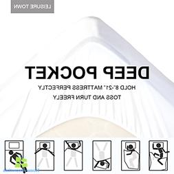 Waterproof Mattress Pad Cover Bed Protector Fitted Sheet Dee