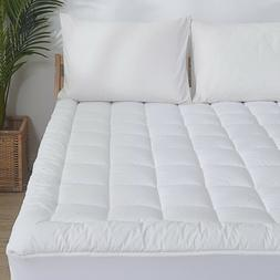 Waterproof Mattress Pad Cover Quilted Fitted Topper Protect