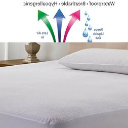Waterproof Mattress Protector King Queen Soft Bedding Pad Sh