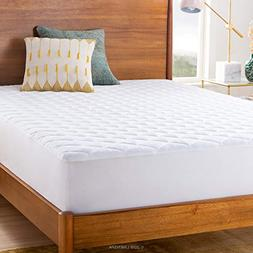 Quilted Mattress Pad Protector Waterproof Bed Topper Cover P