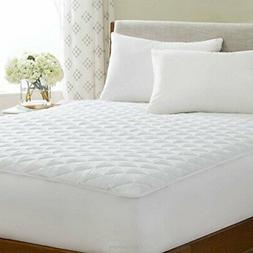 waterproof quilted mattress pad hypoallergenic fill deep