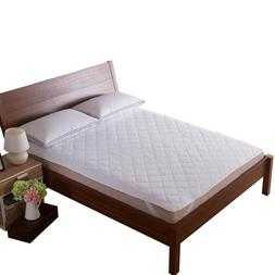 White Quilted <font><b>Mattress</b></font> Covers Protector